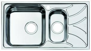 Врезная кухонная мойка IDDIS Arro ARR78PXi77 78х44см нержавеющая сталь