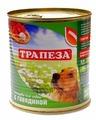 Корм для собак Трапеза Консервы для собак с говядиной