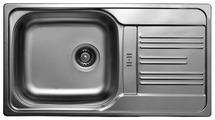 Врезная кухонная мойка Kromevye Colea EC199 78х43.5см нержавеющая сталь