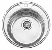 Врезная кухонная мойка Ledeme L64949 49х49см нержавеющая сталь