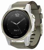 Часы Garmin Fenix 5S Sapphire с замшевым ремешком