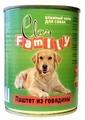 Корм для собак CLAN Family Паштет из говядины для собак