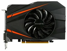 Видеокарта GIGABYTE GeForce GTX 1060 1531Mhz PCI-E 3.0 6144Mb 8008Mhz 192 bit 2xDVI HDMI HDCP Mini ITX