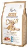 Корм для кошек Brit Care Cocco беззерновой, при чувствительном пищеварении, с лососем, с уткой