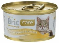Корм для кошек Brit Care с курицей 80 г (мини-филе)