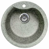 Врезная кухонная мойка Gran-Stone GS-08S 48х48см искусственный гранит