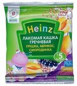 Каша Heinz молочная Лакомая гречневая с грушкой, абрикосом, смородинкой (с 5 месяцев) 30 г