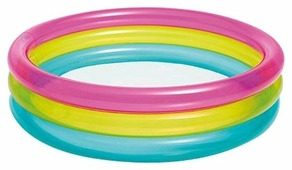 Детский бассейн Intex Rainbow Three Ring 57104