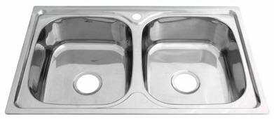 Врезная кухонная мойка MELANA MLN-8148 81х48см нержавеющая сталь