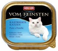 Корм для стерилизованных кошек Animonda Vom Feinsten беззерновой, с индейкой, с форелью 100 г (паштет)