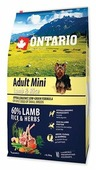 Корм для собак Ontario Adult Mini Lamb & Rice