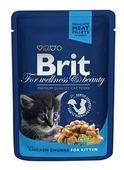Корм для котят Brit Premium беззерновой, с курицей 100 г (кусочки в соусе)