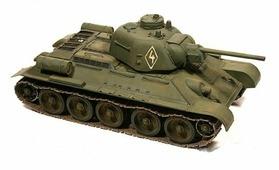 Сборная модель Моделист Танк Т-34-76 с башней УЗТМ (303526) 1:35