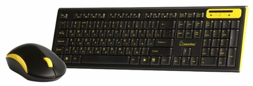 Клавиатура и мышь SmartBuy SBC-23350AG-KY Black-Yellow USB