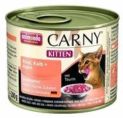 Корм для котят Animonda Carny беззерновой, с курицей, с говядиной, с телятиной (паштет)