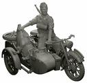 Сборная модель ZVEZDA Немецкий мотоцикл с коляской и экипажем БМВ Р-12 (3607) 1:35