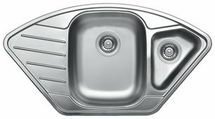 Врезная кухонная мойка Kromevye Cupid EX191K 92х50см нержавеющая сталь