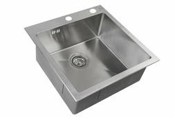 Врезная кухонная мойка ZorG INOX RX-5151 51х51см нержавеющая сталь