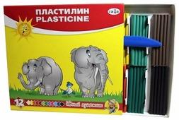Пластилин ГАММА Юный художник 12 цветов (280045)