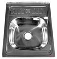 Накладная кухонная мойка Fabia 60x50 (62272) 50х60см нержавеющая сталь