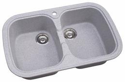 Врезная кухонная мойка Granicom G-004 80х51см искусственный мрамор