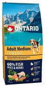 Корм для собак Ontario Adult Medium 7 Fish & Rice