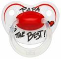 Пустышка силиконовая ортодонтическая Bibi Happiness Papa 16+ (1 шт)