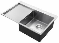 Врезная кухонная мойка AQUASANITA Luna LUN101N-R 78х50см нержавеющая сталь