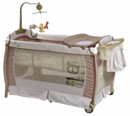 Манеж-кровать LORELLI Sleep N Dream 2 Plus Rocker Green Beige (10080341932)