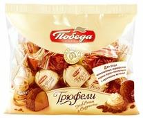 Конфеты Победа вкуса Трюфели ассорти Irish Cream и Cappuccino