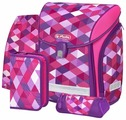 Herlitz Ранец New Midi Plus Pink Cubes с наполнением