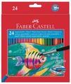 Faber-Castell Акварельные карандаши Fish Design, 24 цвета (114425)
