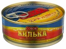 Совок Килька балтийская неразделанная в томатном соусе, с ключом, 230 г