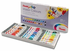 Pentel Акварель Arts Water Colours 24 цвета х 5 мл (WFRS-24)