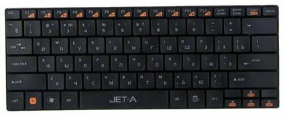 Клавиатура Jet.A SlimLine K7 W Black USB