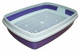 Туалет-лоток для кошек Сибирская кошка Мяус с сеткой и бортиком 40х30х9 см