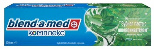 Зубная паста Blend-a-med Комплекс с ополаскивателем Свежесть трав, мята и чебрец