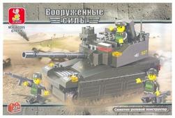 Конструктор SLUBAN Вооруженные силы M38-B0285 Танк и солдаты