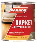 """Лак Parade """"L10 Паркет & Деревянный пол"""", алкидно-уретановый, полуматовый, 4603292006123, прозрачный, 0.75 л"""