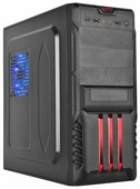 Компьютерный корпус STC 4135R w/o PSU Black/red