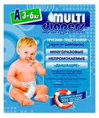 Multi Diapers подгузник A (3-6 кг) 1 шт.