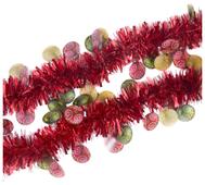 Мишура Феникс Present новогодняя с елочными шарами 200 х 8 см