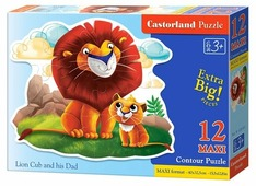 Пазл Castorland Lion Cub and his Dad (B-120161), 12 дет.