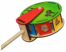 Каталка-игрушка Крона Барабан (213-041) со звуковыми эффектами