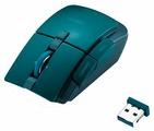 Мышь Elecom OBSIDIAN M-GE3DLGN Green USB