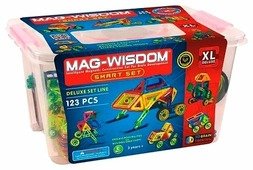 Магнитный конструктор Mag Wisdom 1123 Умный набор XL Deluxe