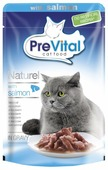 Корм для кошек PreVital с лососем 85 г (кусочки в соусе)