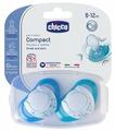 Пустышка силиконовая ортодонтическая Chicco Physio Compact 6-12 м (2 шт)
