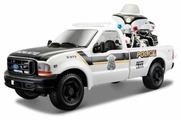 Набор машин Maisto Ford F-350 Pickup Police с мотоциклом (32186)