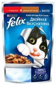 Корм для кошек Felix Двойная вкуснятина с курицей, с говядиной (кусочки в желе)